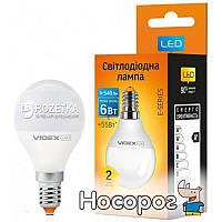 Светодиодная лампа VIDEX E-Series G45e 6W E14 3000K 220V (VL-G45e-06143)