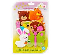 """Набор игрушек для купания на присосках """"KINDERENOK"""" ЛЕСНЫЕ ЖИВОТНЫЕ 040313"""
