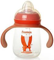 """Бутылочка детская для кормления Fissman Babies """"Хитрый лис"""" 260мл с ручками, фото 1"""