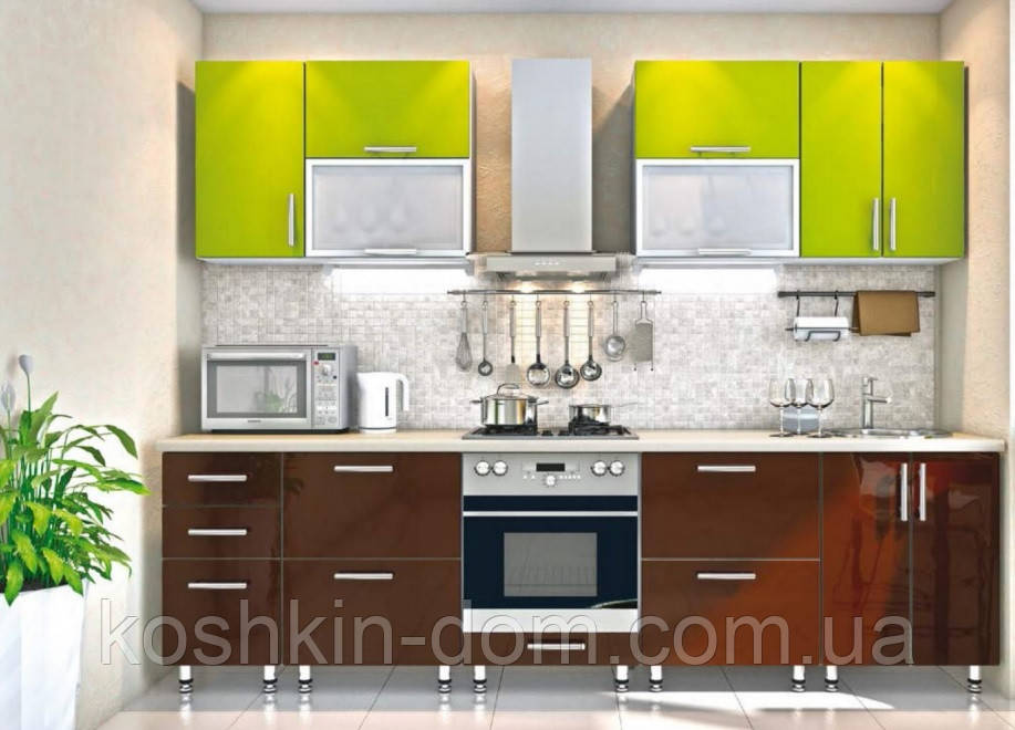 Модульна Кухня пряма 2800 мм, МДФ плівковий