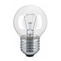 Лампа накаливания PHILIPS P45 40W Е27 CL шар проз.