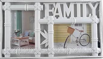 "Фотоколлаж ""Family"" (37×21×2,5 см) на 2 фотографии"