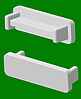 Заглушка на алюминиевый карниз 2
