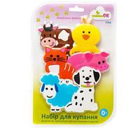 """Набор игрушек для купания на присосках """"KINDERENOK"""" ЛЮБИМАЯ ФЕРМА 061113"""