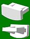 Заглушка для алюминиевого карниза (европрофиль), фото 2