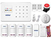 Комплект сигнализации GSM KERUI G-18 modern plus для 3-комнатной квартиры Белый (JJCVVFD67DKKVNBV)
