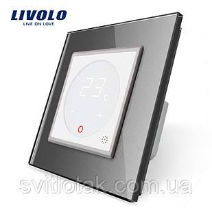 Терморегулятор Livolo для водяних систем опалення колір білий сіра рамка (VL-C701TM-11/15)