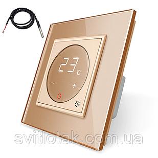 Терморегулятор сенсорний Livolo для електричного теплого статі з датчиком золото (VL-C701TM2-13)