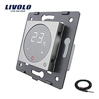 Механизм терморегулятор Livolo с датчиком температуры пола серый (VL-C7-01TM2-15)