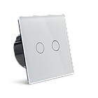 Сенсорный проходной маршевый перекрестный выключатель Livolo на 2 канала белый стекло (VL-C702S-11), фото 6