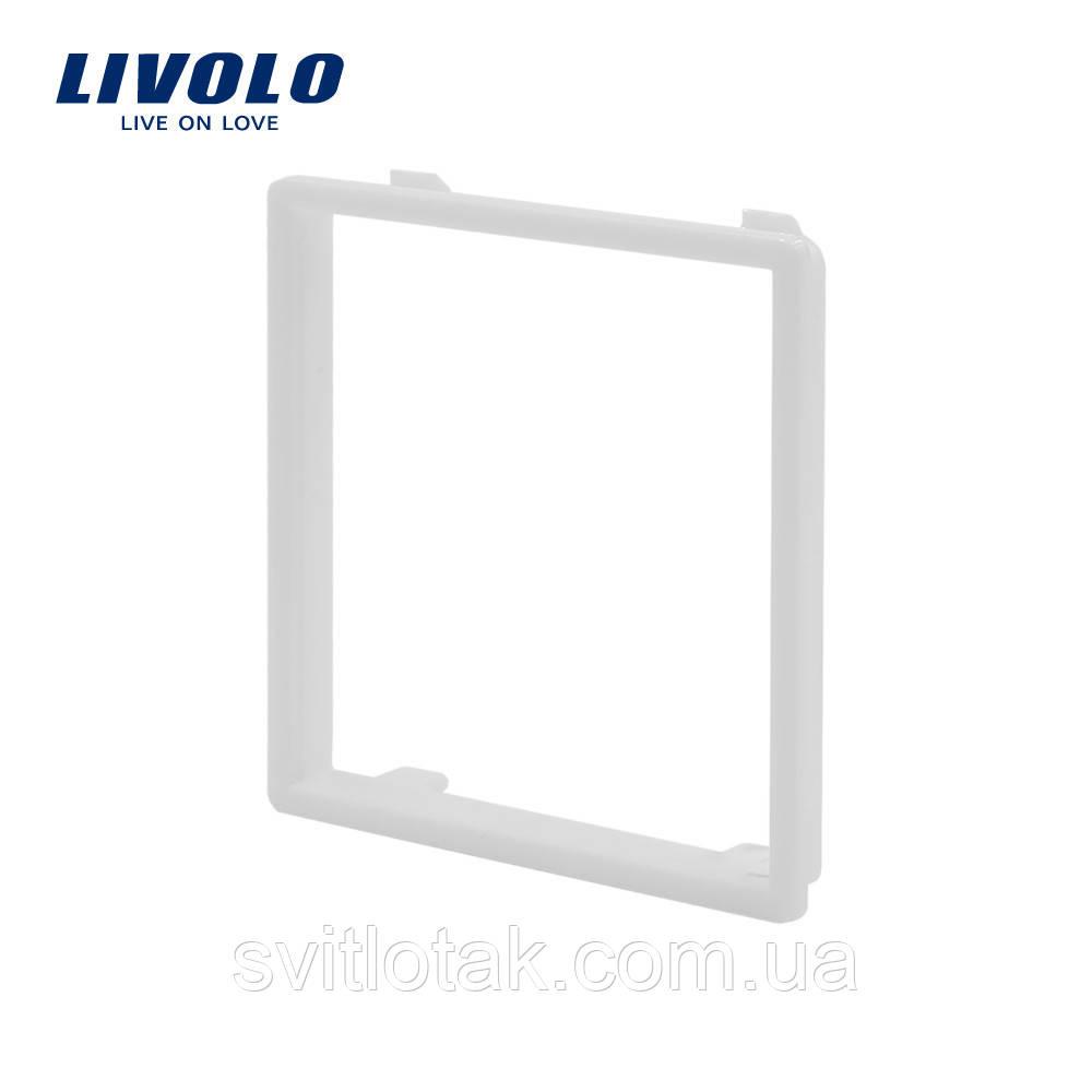 Ободок розетки Livolo белый (VL-DF101-11)