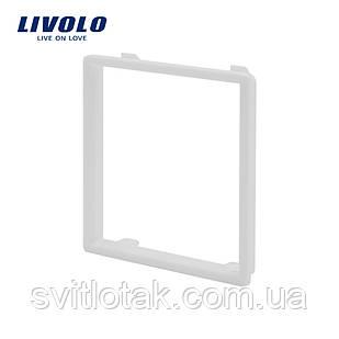 Обідок розетки Livolo колір білий (VL-DF101-11)