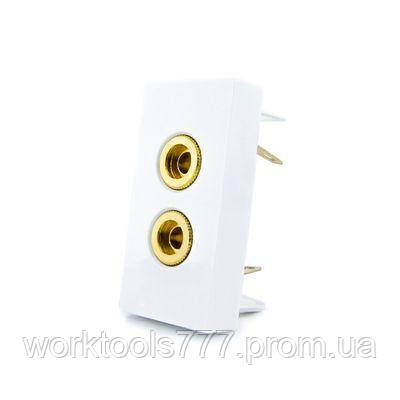 Механизм розетка аудио Banana Livolo белый (VL-C7-91A-11)