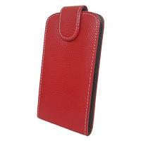 Чехол книжка Samsung Galaxy Fit S5670 Змеиный принт Красный