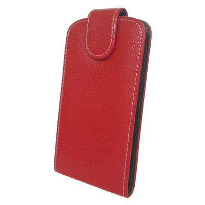 Чехол книжка Samsung Galaxy Fit S5670 Змеиный принт Красный, фото 1