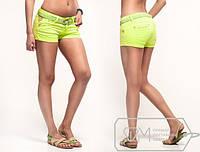 Шорты женские короткие, цветной джинс