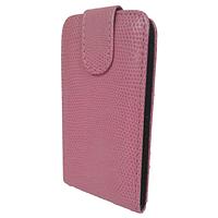 Чехол книжка Samsung Galaxy Fit S5670 Змеиный принт Розовый