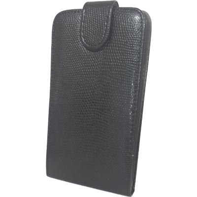Чехол книжка Samsung Galaxy Fit S5670 Змеиный принт Черный, фото 1