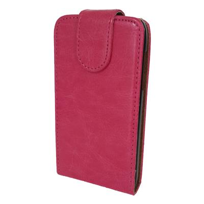 Чехол книжка Samsung Galaxy Fit S5670 Без узоров и принтов Розовый, фото 1