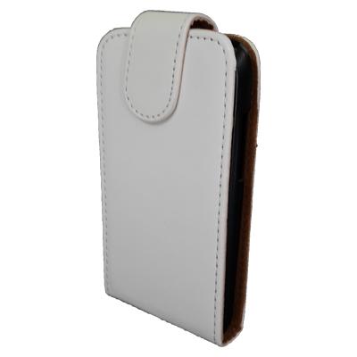 Чехол книжка Samsung Galaxy Fit S5670 Без узоров и принтов Белый, фото 1