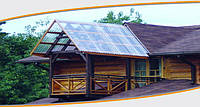 Прозрачная крыша - прозрачный шифер ПВХ.