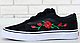 Кеды Vans Old Skool Roses, Кеды Ванс Олд Скул черные с розой, фото 10