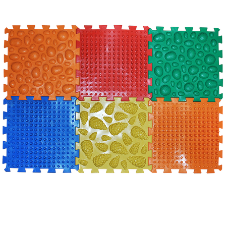 Коврик массажный Пазлы Микс 6 элементов 26 х 26 см Разноцветный (11k3701), фото 2