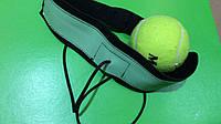 Тренажёр-эспандер для бокса с мячиком Fight ball кожанный с регелируемой резинкой, фото 1