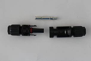 Кабельний з'єднувач МС4, пара, 4 мм