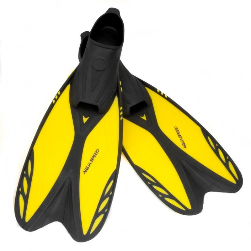 Ласти Aqua Speed Vapor 44/45 Жовтий з чорним (aqs201)