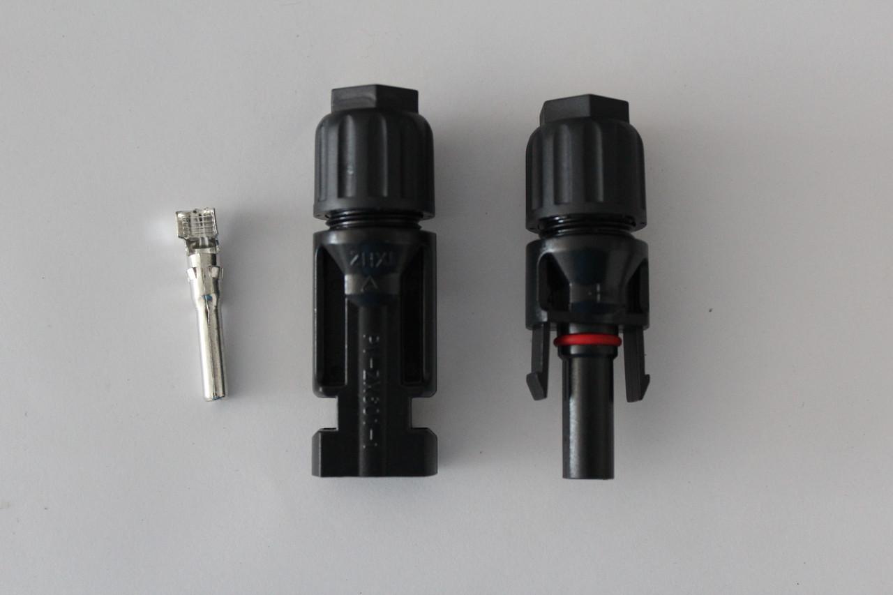 Кабельный соединитель МС4, пара, 6 мм