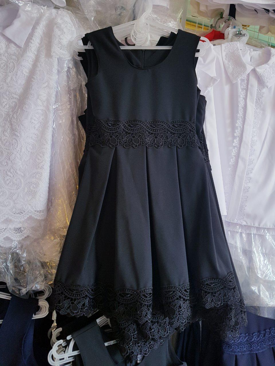 Школьный сарафан для девочки р.116-140 опт чёрный