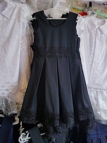 Школьный сарафан для девочки р.116-140 опт чёрный, фото 2