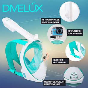 Маска для плавания Divelux S/M Розовый с белым (dvl003), фото 2