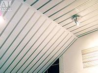 Алюминиевый реечный потолок для ванной.