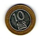 Кения 10 шиллингов 2010 №9, фото 2