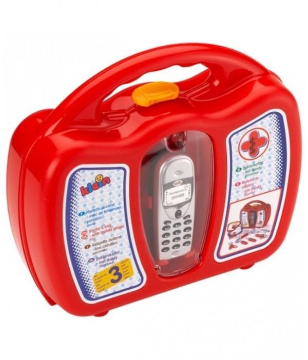 Детский игровой набор доктора в кейсе с мобильным телефоном Klein 4350