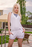 Белый женский комбинезон  Луиза