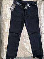 Синие школьные котоновые брюки для мальчиков подростковые MARKA,разм 146-170 см,Турция