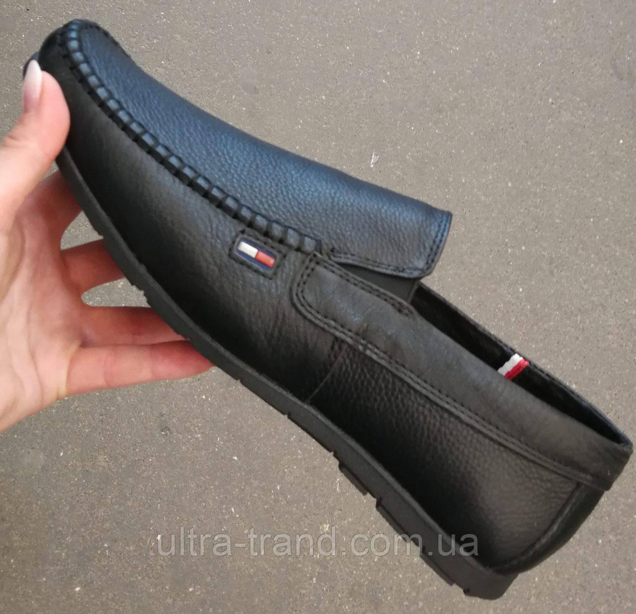 Style! Tommy Hilfiger! Мужские черные кожаные туфли