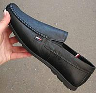 Style! Tommy Hilfiger! Мужские черные кожаные туфли, фото 1