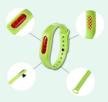 Защитный силиконовый браслет отпугиватель комаров с запасной капсулой