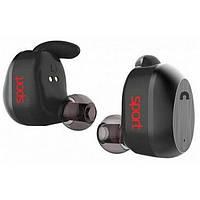 Навушники вакуумні з мікрофоном безпровідні Elari NanoPods Sport Black (NPS-2)