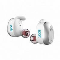 Навушники вакуумні з мікрофоном безпровідні Elari NanoPods Sport White (NPS-2WHT)