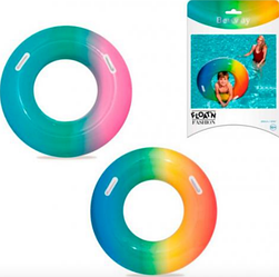Надувной круг.Детский надувной пляжный круг.Круг детский плавательный.