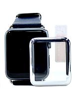 Защитное стекло NZY для Apple Watch 42мм Full Glue 9H Серебристая рамка (123189)