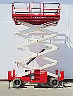 Аренда самоходного ножничного подъемника, H 12 SX (рабочая высота 12 метров)