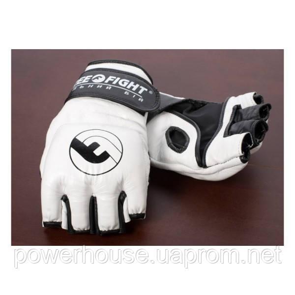 Перчатки MMA Free-Fight беспалые черные 4 унции