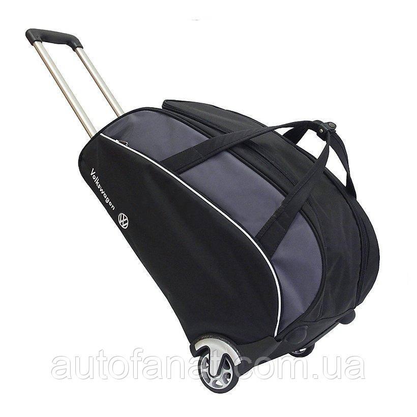 Оригинальная дорожная сумка на колесиках Volkswagen Trolley Bag, Black/Grey (MFS1645SL0)