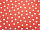 Вискоза Индонезия горох 20 мм, белые на оранжевом, фото 2
